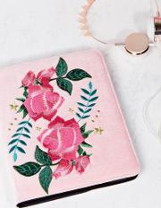 Rose Embroidered Ipad Case