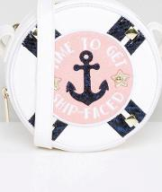 time to get ship faced novelty cross body bag