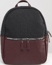 leather and nylon backpack