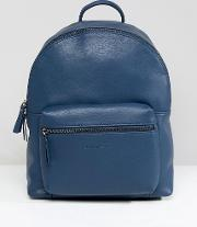 leather backpack with contrast straps