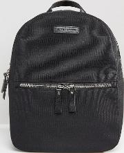 Nylon Backpack With Leather Trims