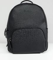 saffiano leather backpack in black