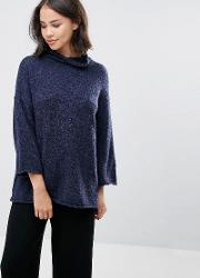 high neck jumper with  sleeves