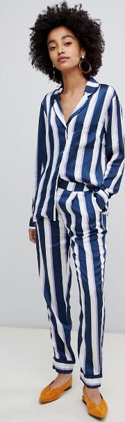 stripe pyjama co ord trousers