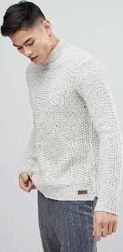 fishermans jumper with polo neck in nep