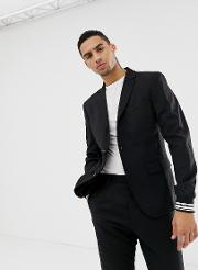 Party Suit Blazer With Stripe Cuff Sleeve