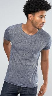 t shirt with raw edges