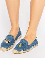 jason polan denim hotdog espadrilles medium