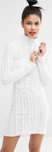 Sonia By  Rykiel High Neck Knitted Dress