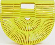 Exclusive Painted Bamboo Slatted Clutch Bag