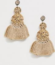 Oversized Raffia Straw Multi Disc Earrings