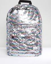 all over rainbow sequin backpack