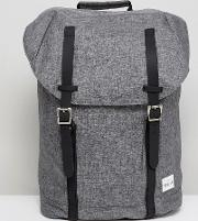 backpack crosshatch in charcoal