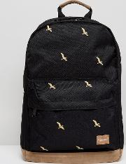 backpack with bird print