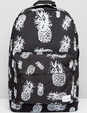 backpack with pineapple print