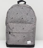 bird crosshatch backpack in charcoal