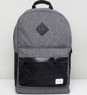 mesh backpack in charcoal & black