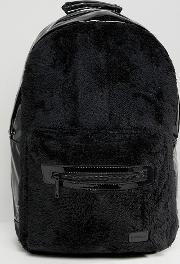 rave backpack in faux fur