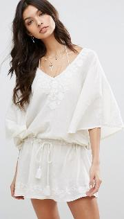 Carla Embroidered Tunic Dress
