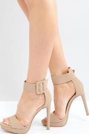 coco nude heeled sandals