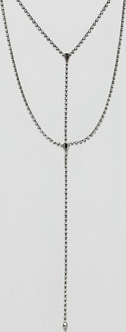 Double Layer Teardrop Chain Necklace