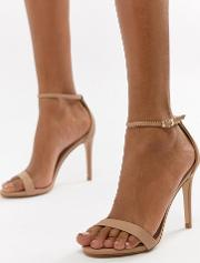 stecy barely there heeled sandals
