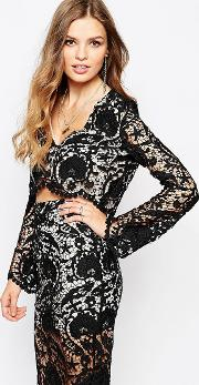 Charlie Blouse In Black Lace