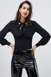 Bow Side Blouse