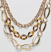 Carey & Chain Necklace