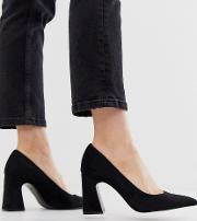 Faux Suede Heeled Shoe