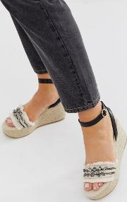 Gem Detail Espadrille Wedges