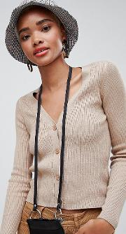 Ribbed Jersey Cardigan