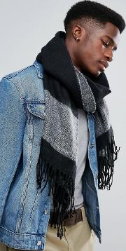 Scarf In Black And Grey