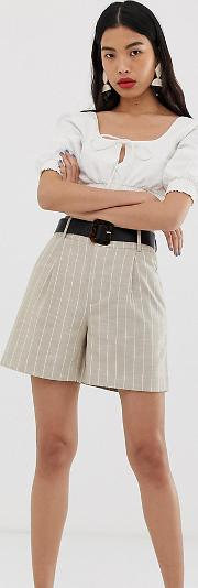 Striped Longline Bermuda Shorts