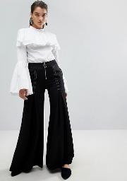 stylemafia surco flared trousers