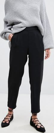 Cigarette Trouser With Bow Detail