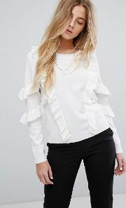 jumper with frill