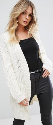 caymon open cable knit cardigan