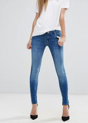 paradise sateen skinny jeans