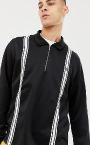 Loose Polo With Zip Neck