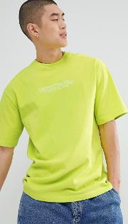 t shirt in lime green