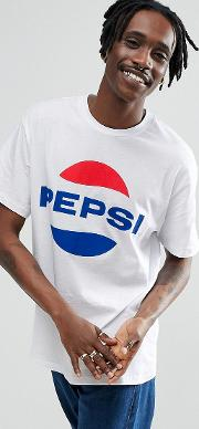 x pepsi t shirt with logo in white