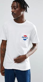 x pepsi t shirt with pocket