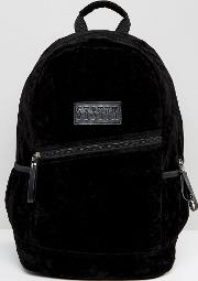 Backpack In Black Faux Fur