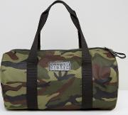 Duffle Bag In Camo Canvas
