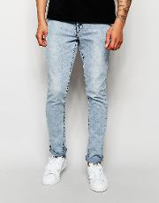 skinny jean nickel light blue