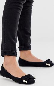 Antheia Bow Detail Ballet Pumps