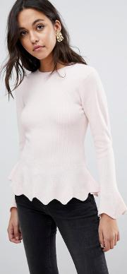 Bobbe Peplum Knitted Jumper
