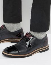 braythe 2 derby shoes in black leather