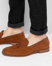 cannan suede embroidered loafers